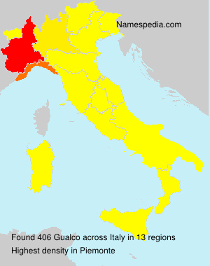 Surname Gualco in Italy