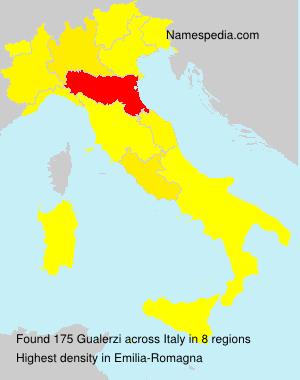 Surname Gualerzi in Italy