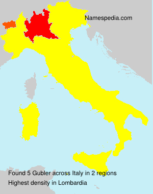 Surname Gubler in Italy