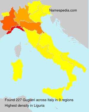 Familiennamen Guglieri - Italy