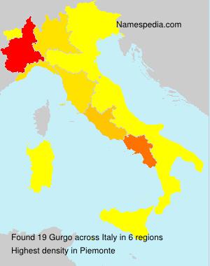 Familiennamen Gurgo - Italy