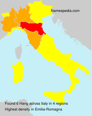 Surname Hang in Italy