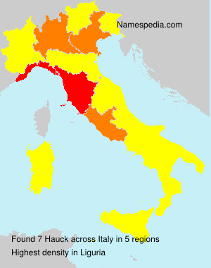 Surname Hauck in Italy