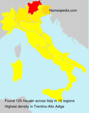 Surname Hauser in Italy