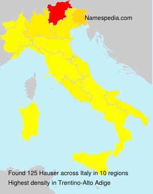 Familiennamen Hauser - Italy
