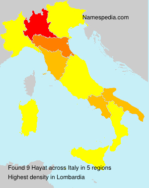 Surname Hayat in Italy