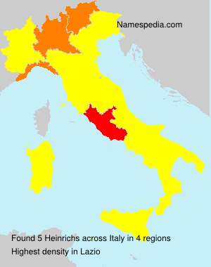 Surname Heinrichs in Italy