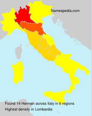 Surname Herman in Italy