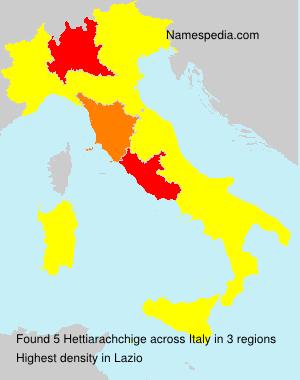 Familiennamen Hettiarachchige - Italy