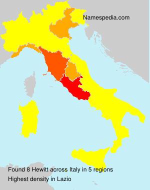 Surname Hewitt in Italy