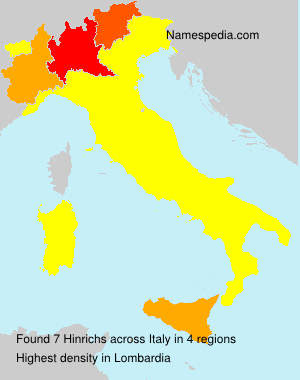 Surname Hinrichs in Italy