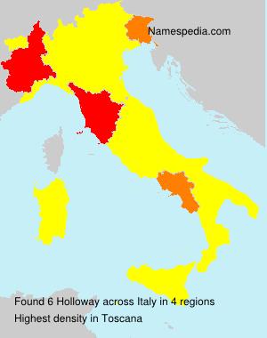 Familiennamen Holloway - Italy