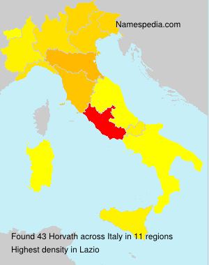 Surname Horvath in Italy