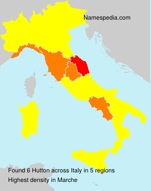 Surname Hutton in Italy