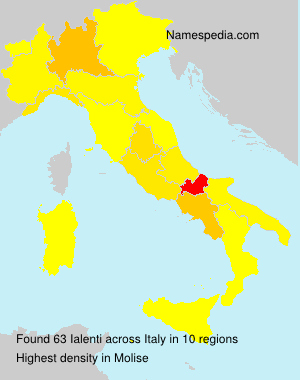 Surname Ialenti in Italy