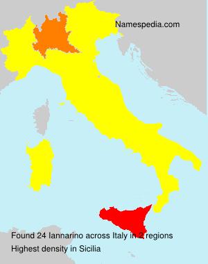 Surname Iannarino in Italy