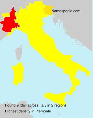 Surname Idali in Italy