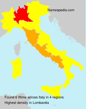 Surname Iftime in Italy