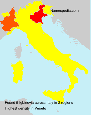 Surname Igbinovia in Italy