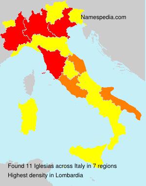 Surname Iglesias in Italy