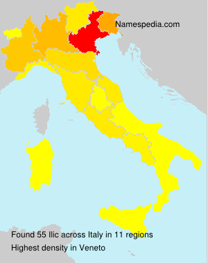 Surname Ilic in Italy