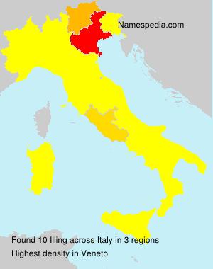 Familiennamen Illing - Italy