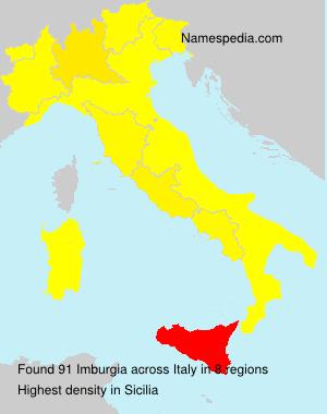 Surname Imburgia in Italy