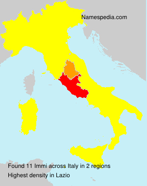 Surname Immi in Italy