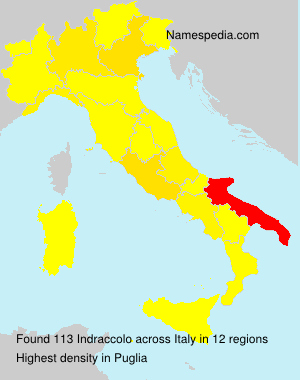 Surname Indraccolo in Italy