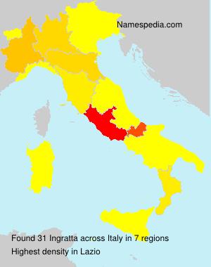 Familiennamen Ingratta - Italy
