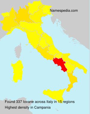 Surname Iovane in Italy