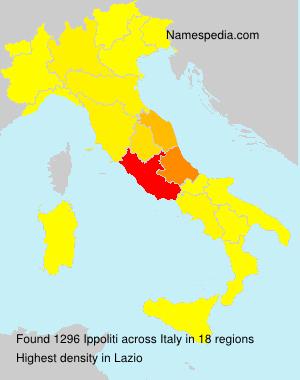 Surname Ippoliti in Italy
