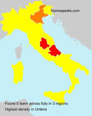 Surname Iseini in Italy