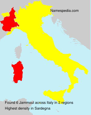 Surname Jammoul in Italy