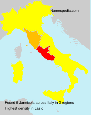 Surname Jannicola in Italy
