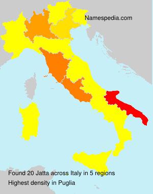 Surname Jatta in Italy