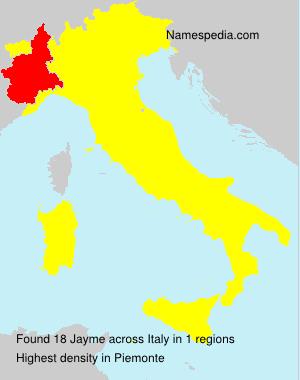 Familiennamen Jayme - Italy