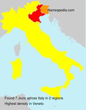 Surname Jozic in Italy