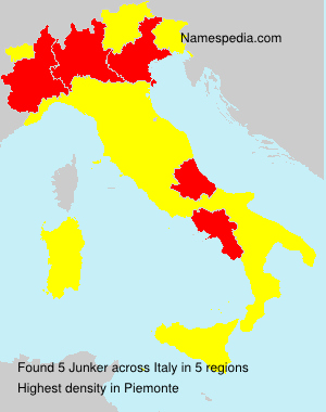 Surname Junker in Italy