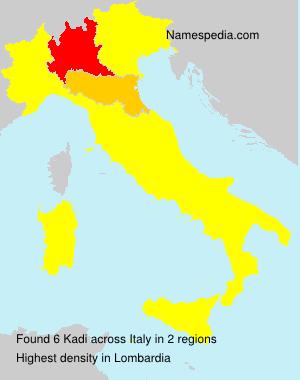 Familiennamen Kadi - Italy