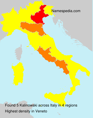 Surname Kalinowski in Italy