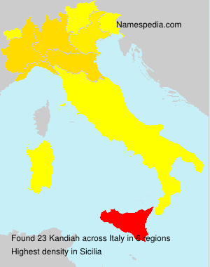 Surname Kandiah in Italy