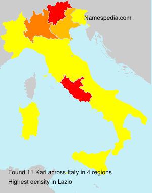 Surname Karl in Italy