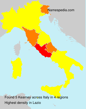 Surname Kearney in Italy