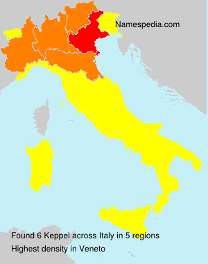 Surname Keppel in Italy