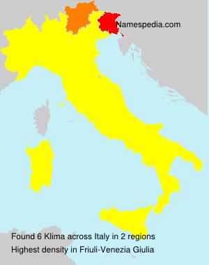 Familiennamen Klima - Italy