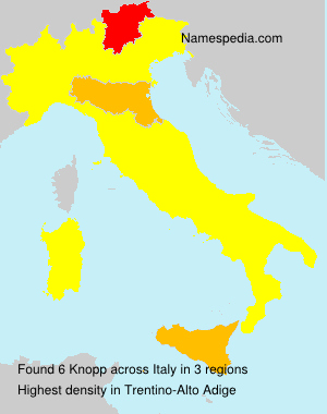 Surname Knopp in Italy