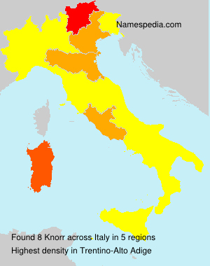 Surname Knorr in Italy