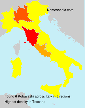 Surname Kobayashi in Italy
