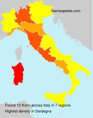Surname Kohn in Italy